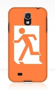 Running Man Fire Safety Exit Sign Emergency Evacuation Samsung Galaxy Mobile Phone Case 79