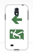 Running Man Fire Safety Exit Sign Emergency Evacuation Samsung Galaxy Mobile Phone Case 8