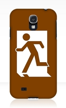 Running Man Fire Safety Exit Sign Emergency Evacuation Samsung Galaxy Mobile Phone Case 80