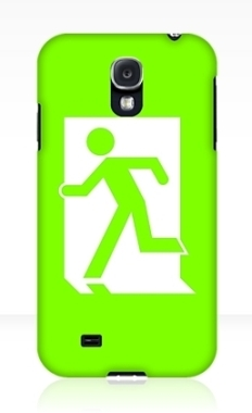 Running Man Fire Safety Exit Sign Emergency Evacuation Samsung Galaxy Mobile Phone Case 81