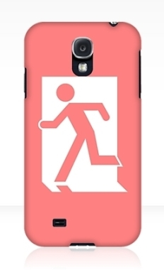Running Man Fire Safety Exit Sign Emergency Evacuation Samsung Galaxy Mobile Phone Case 84