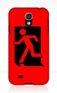 Running Man Fire Safety Exit Sign Emergency Evacuation Samsung Galaxy Mobile Phone Case 85