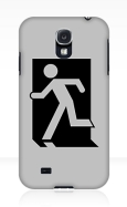 Running Man Fire Safety Exit Sign Emergency Evacuation Samsung Galaxy Mobile Phone Case 86