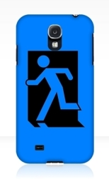 Running Man Fire Safety Exit Sign Emergency Evacuation Samsung Galaxy Mobile Phone Case 87