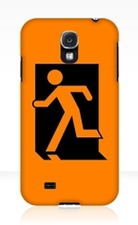 Running Man Fire Safety Exit Sign Emergency Evacuation Samsung Galaxy Mobile Phone Case 89