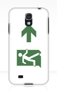 Running Man Fire Safety Exit Sign Emergency Evacuation Samsung Galaxy Mobile Phone Case 9