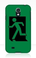 Running Man Fire Safety Exit Sign Emergency Evacuation Samsung Galaxy Mobile Phone Case 90