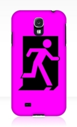 Running Man Fire Safety Exit Sign Emergency Evacuation Samsung Galaxy Mobile Phone Case 91