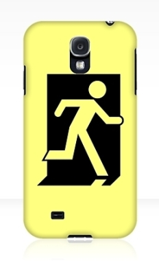 Running Man Fire Safety Exit Sign Emergency Evacuation Samsung Galaxy Mobile Phone Case 92