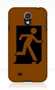 Running Man Fire Safety Exit Sign Emergency Evacuation Samsung Galaxy Mobile Phone Case 93