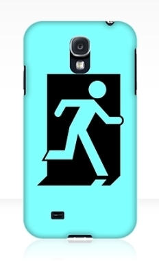 Running Man Fire Safety Exit Sign Emergency Evacuation Samsung Galaxy Mobile Phone Case 95