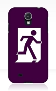 Running Man Fire Safety Exit Sign Emergency Evacuation Samsung Galaxy Mobile Phone Case 96