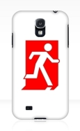 Running Man Fire Safety Exit Sign Emergency Evacuation Samsung Galaxy Mobile Phone Case 98