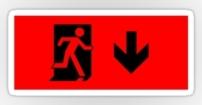 Running Man Fire Safety Exit Sign Emergency Evacuation Sticker Decals 10