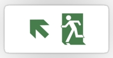 Running Man Fire Safety Exit Sign Emergency Evacuation Sticker Decals 100
