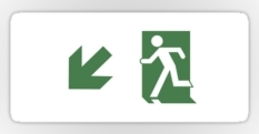 Running Man Fire Safety Exit Sign Emergency Evacuation Sticker Decals 101