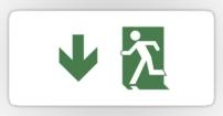 Running Man Fire Safety Exit Sign Emergency Evacuation Sticker Decals 102