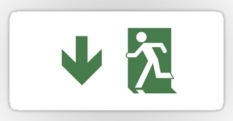 Running Man Fire Safety Exit Sign Emergency Evacuation Sticker Decals 102