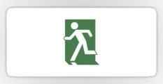 Running Man Fire Safety Exit Sign Emergency Evacuation Sticker Decals 103