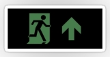 Running Man Fire Safety Exit Sign Emergency Evacuation Sticker Decals 104