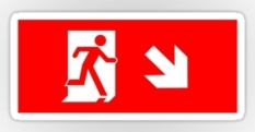 Running Man Fire Safety Exit Sign Emergency Evacuation Sticker Decals 105