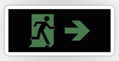 Running Man Fire Safety Exit Sign Emergency Evacuation Sticker Decals 106