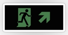 Running Man Fire Safety Exit Sign Emergency Evacuation Sticker Decals 107