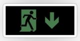 Running Man Fire Safety Exit Sign Emergency Evacuation Sticker Decals 109
