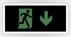 Running Man Fire Safety Exit Sign Emergency Evacuation Sticker Decals 109