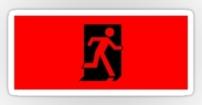 Running Man Fire Safety Exit Sign Emergency Evacuation Sticker Decals 11