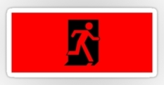 Running Man Fire Safety Exit Sign Emergency Evacuation Sticker Decals 11