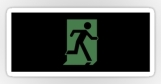 Running Man Fire Safety Exit Sign Emergency Evacuation Sticker Decals 110