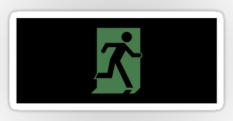 Running Man Fire Safety Exit Sign Emergency Evacuation Sticker Decals 110