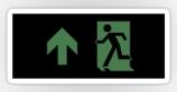 Running Man Fire Safety Exit Sign Emergency Evacuation Sticker Decals 111