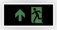 Running Man Fire Safety Exit Sign Emergency Evacuation Sticker Decals 111