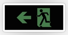 Running Man Fire Safety Exit Sign Emergency Evacuation Sticker Decals 112