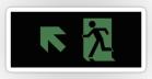 Running Man Fire Safety Exit Sign Emergency Evacuation Sticker Decals 113