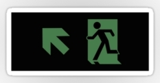 Running Man Fire Safety Exit Sign Emergency Evacuation Sticker Decals 113