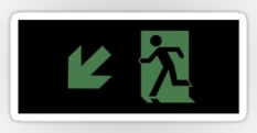 Running Man Fire Safety Exit Sign Emergency Evacuation Sticker Decals 114