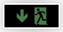 Running Man Fire Safety Exit Sign Emergency Evacuation Sticker Decals 115
