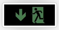 Running Man Fire Safety Exit Sign Emergency Evacuation Sticker Decals 115