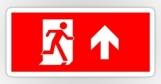 Running Man Fire Safety Exit Sign Emergency Evacuation Sticker Decals 116