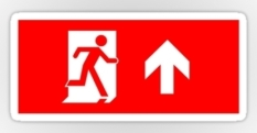 Running Man Fire Safety Exit Sign Emergency Evacuation Sticker Decals 116