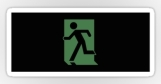 Running Man Fire Safety Exit Sign Emergency Evacuation Sticker Decals 117