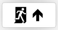 Running Man Fire Safety Exit Sign Emergency Evacuation Sticker Decals 118