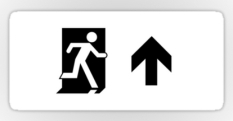 Running Man Fire Safety Exit Sign Emergency Evacuation Sticker Decals 118