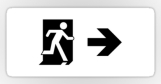 Running Man Fire Safety Exit Sign Emergency Evacuation Sticker Decals 119