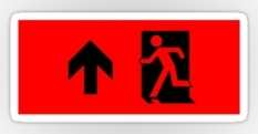 Running Man Fire Safety Exit Sign Emergency Evacuation Sticker Decals 12