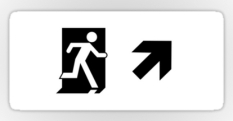 Running Man Fire Safety Exit Sign Emergency Evacuation Sticker Decals 120