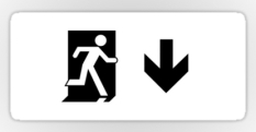 Running Man Fire Safety Exit Sign Emergency Evacuation Sticker Decals 122